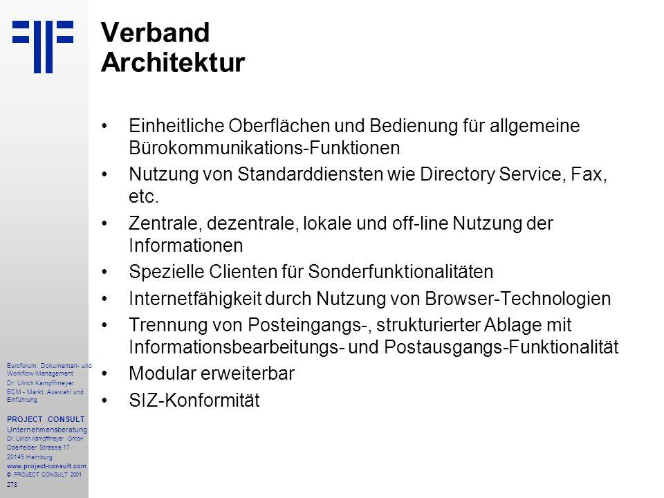 278 Euroforum: Dokumenten- und Workflow-Management Dr.