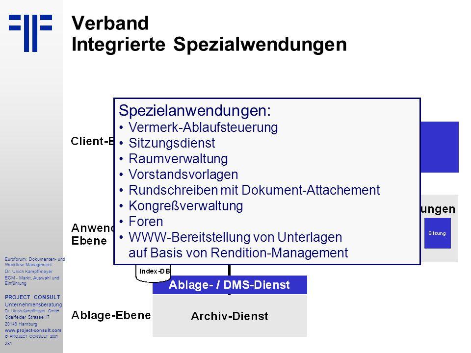 281 Euroforum: Dokumenten- und Workflow-Management Dr.
