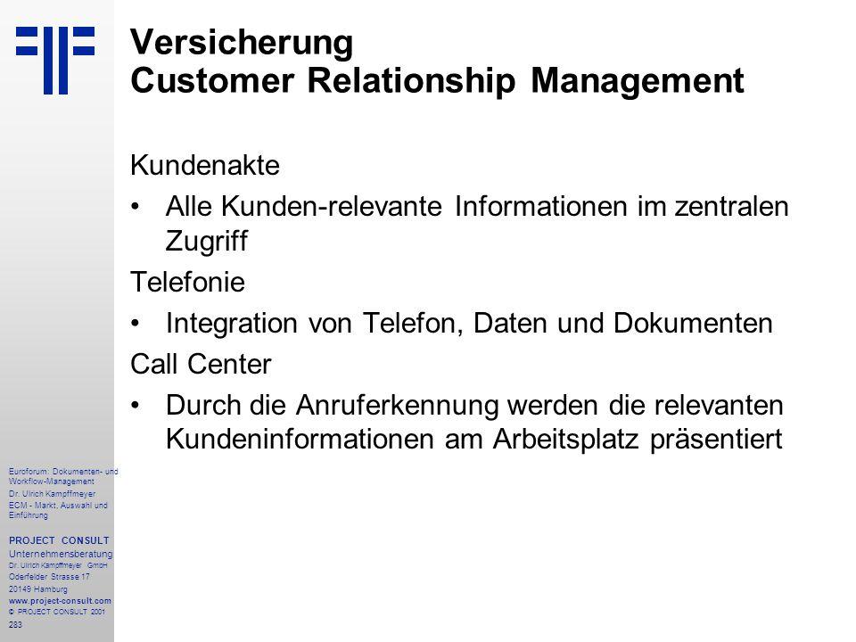 283 Euroforum: Dokumenten- und Workflow-Management Dr.