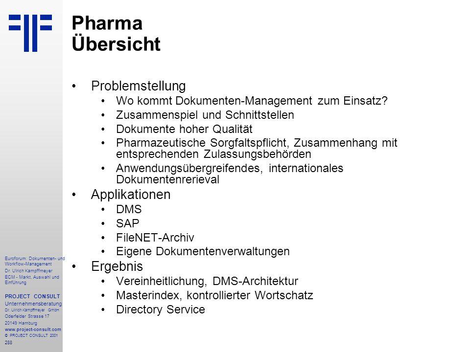 288 Euroforum: Dokumenten- und Workflow-Management Dr.