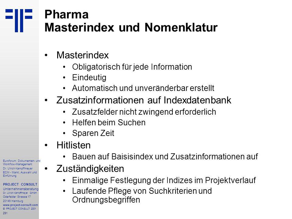 291 Euroforum: Dokumenten- und Workflow-Management Dr.