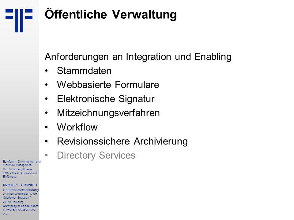 294 Euroforum: Dokumenten- und Workflow-Management Dr.