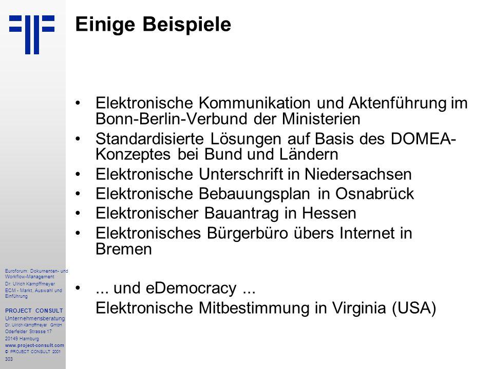 303 Euroforum: Dokumenten- und Workflow-Management Dr.
