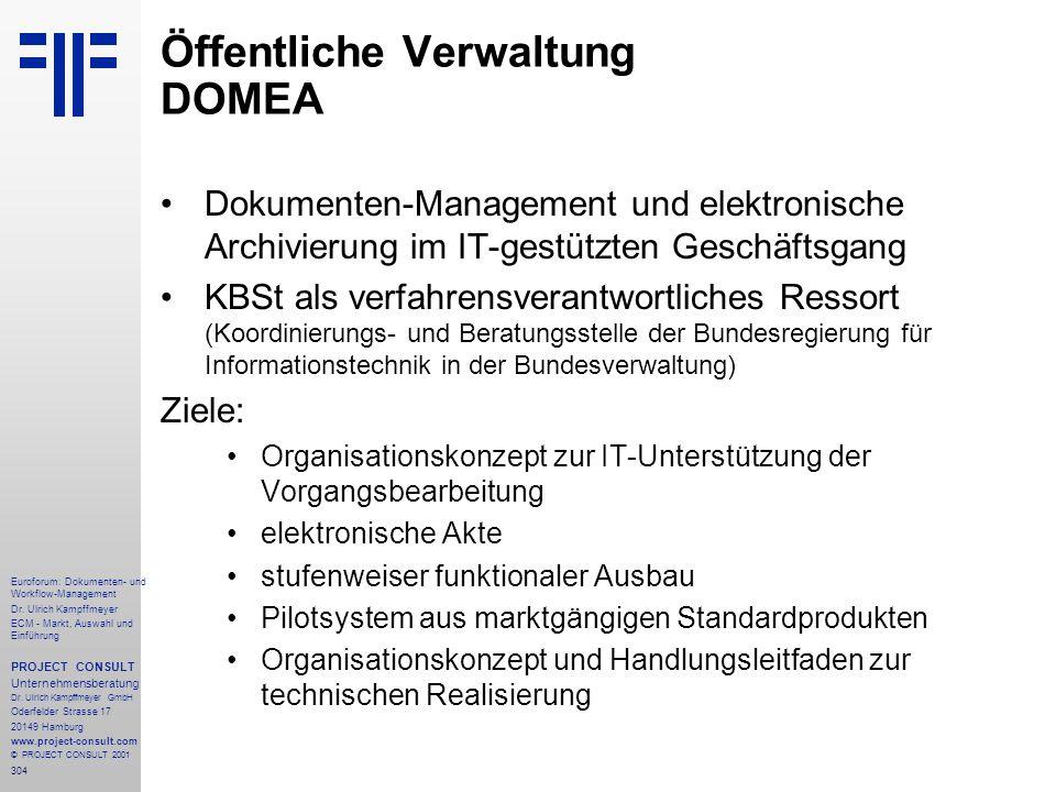 304 Euroforum: Dokumenten- und Workflow-Management Dr.