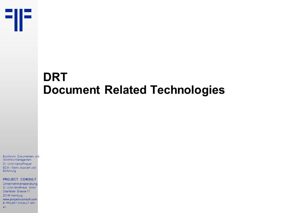 41 Euroforum: Dokumenten- und Workflow-Management Dr.