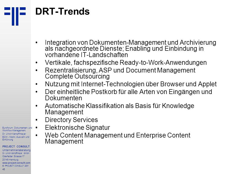 45 Euroforum: Dokumenten- und Workflow-Management Dr.