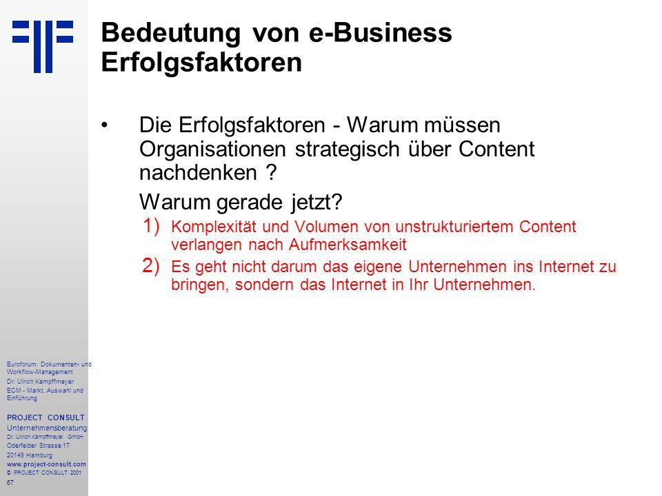 67 Euroforum: Dokumenten- und Workflow-Management Dr.