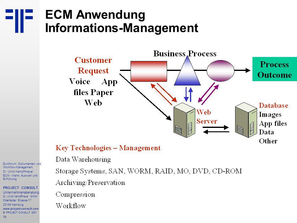 76 Euroforum: Dokumenten- und Workflow-Management Dr.