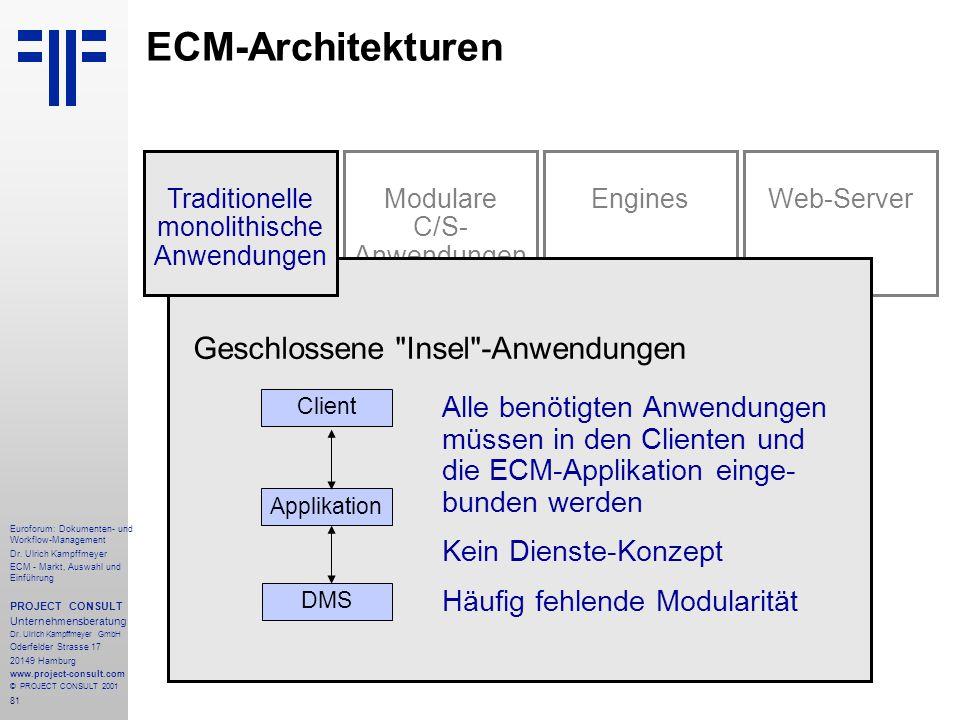 81 Euroforum: Dokumenten- und Workflow-Management Dr.