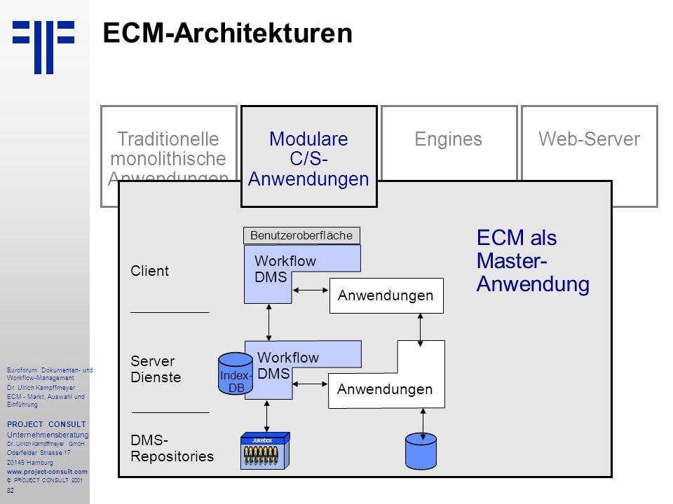 82 Euroforum: Dokumenten- und Workflow-Management Dr.