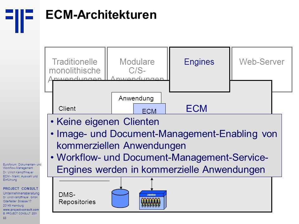 83 Euroforum: Dokumenten- und Workflow-Management Dr.