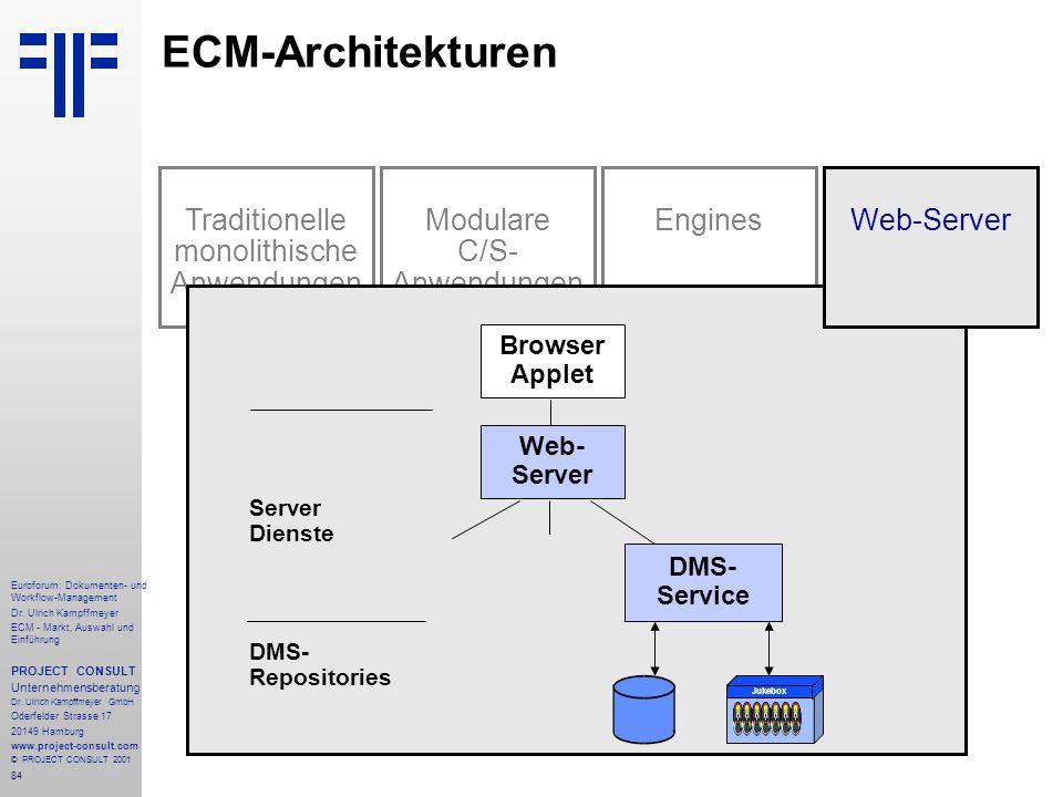 84 Euroforum: Dokumenten- und Workflow-Management Dr.