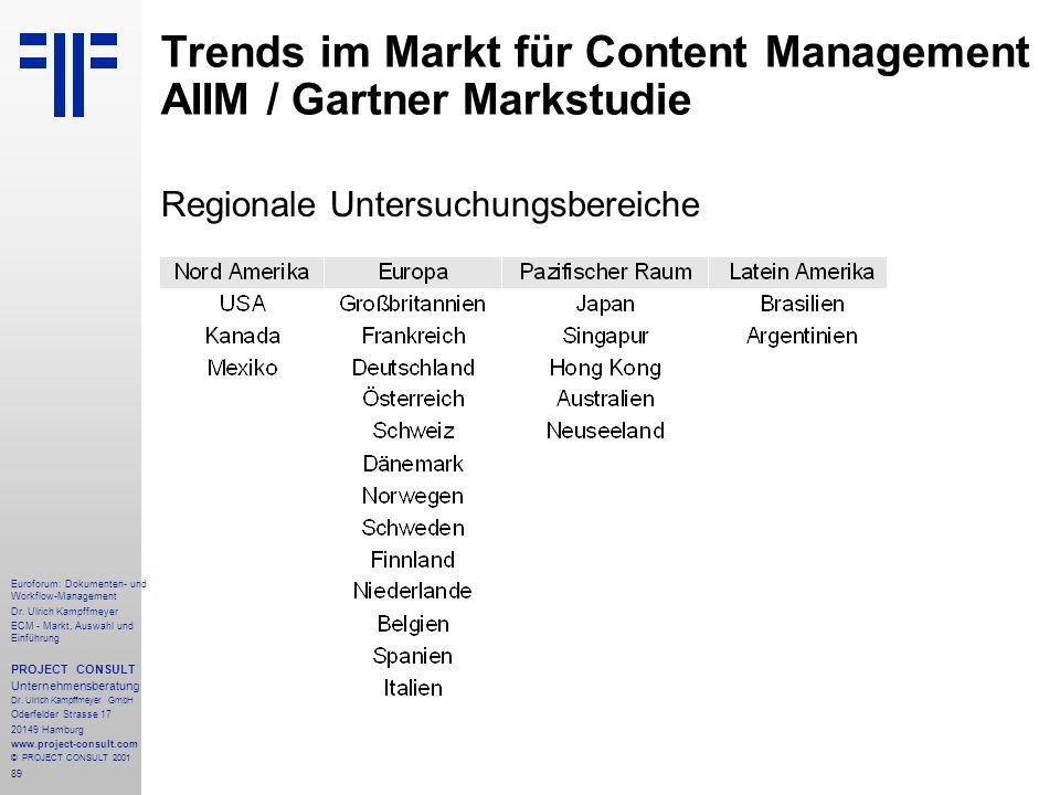 89 Euroforum: Dokumenten- und Workflow-Management Dr.