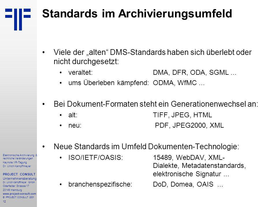 12 Elektronische Archivierung & rechtliche Veränderungen Keynote IIR-Tagung Dr.