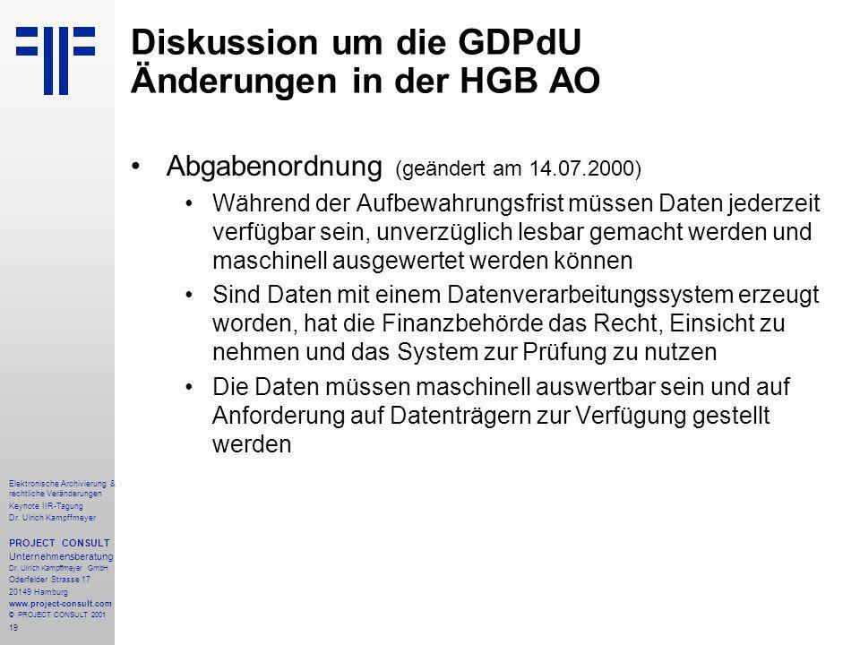 19 Elektronische Archivierung & rechtliche Veränderungen Keynote IIR-Tagung Dr.