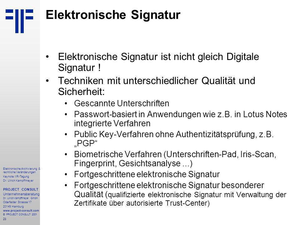 28 Elektronische Archivierung & rechtliche Veränderungen Keynote IIR-Tagung Dr.