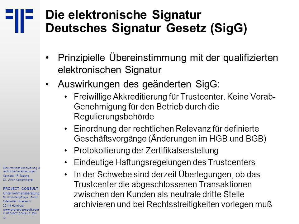 30 Elektronische Archivierung & rechtliche Veränderungen Keynote IIR-Tagung Dr.