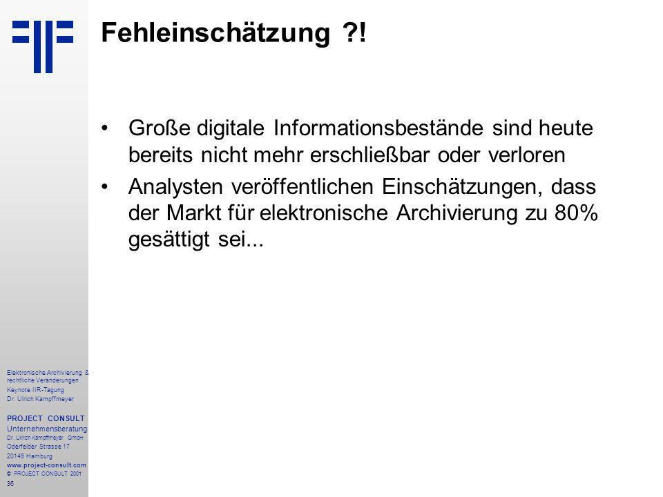 36 Elektronische Archivierung & rechtliche Veränderungen Keynote IIR-Tagung Dr.