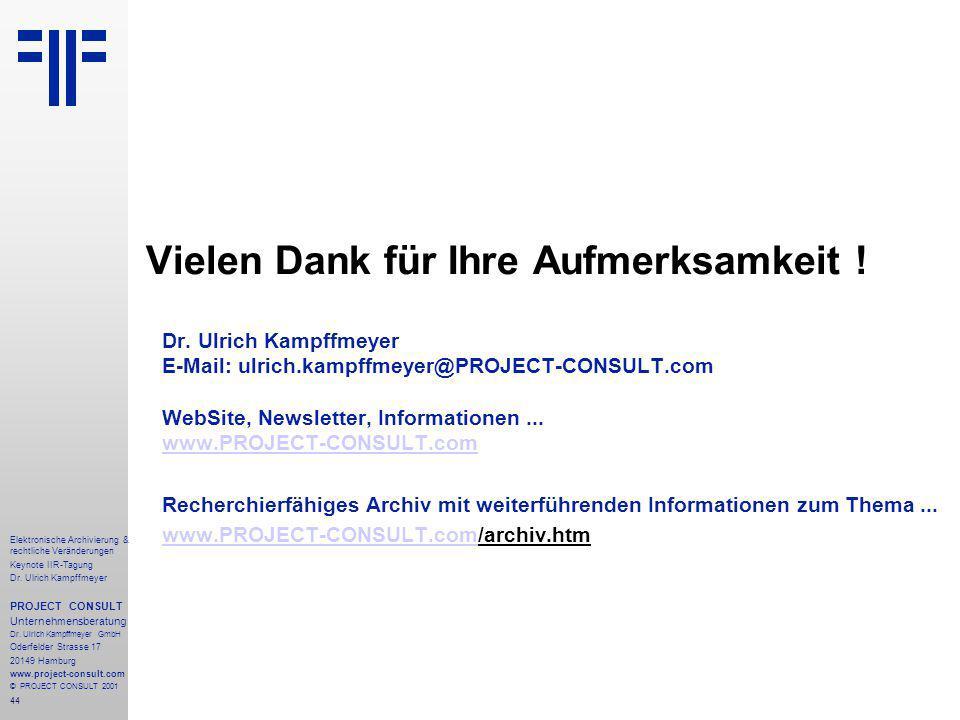 44 Elektronische Archivierung & rechtliche Veränderungen Keynote IIR-Tagung Dr.