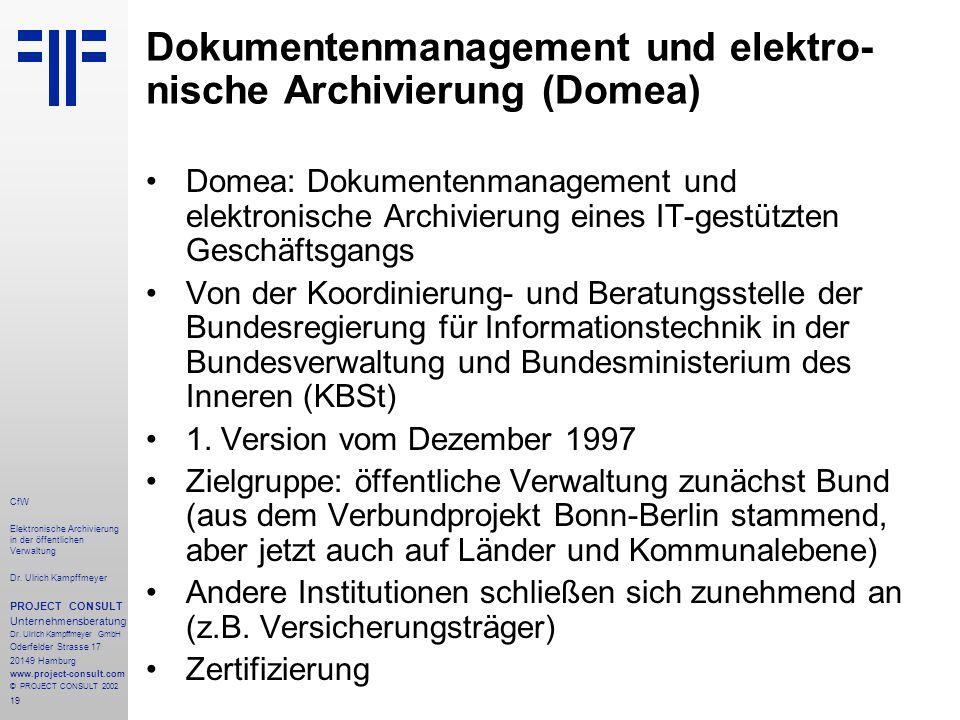 19 CfW Elektronische Archivierung in der öffentlichen Verwaltung Dr.