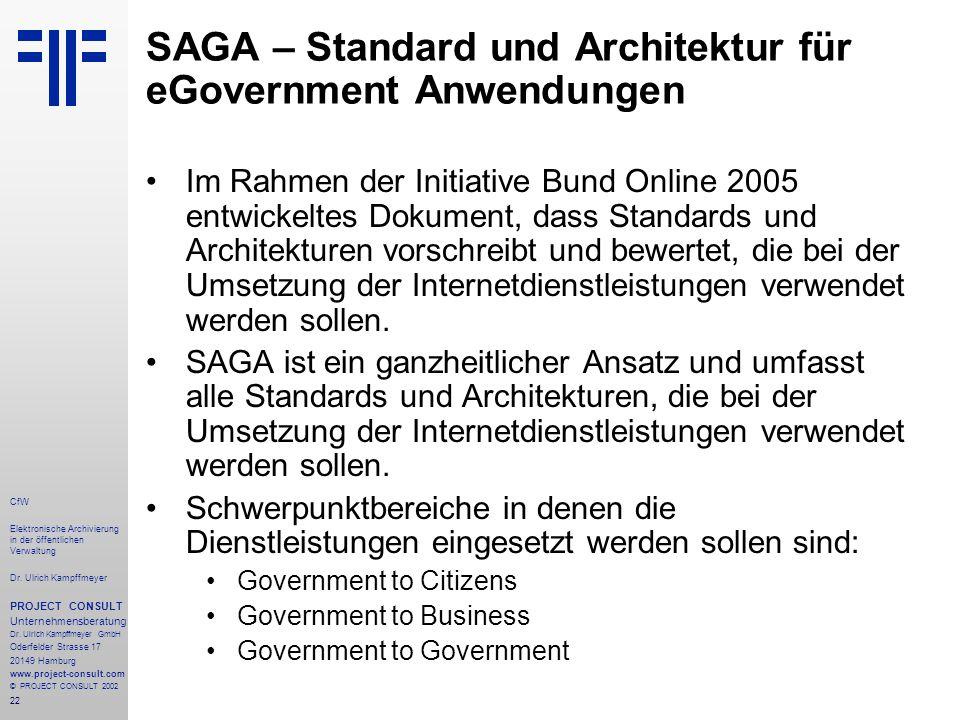 22 CfW Elektronische Archivierung in der öffentlichen Verwaltung Dr.