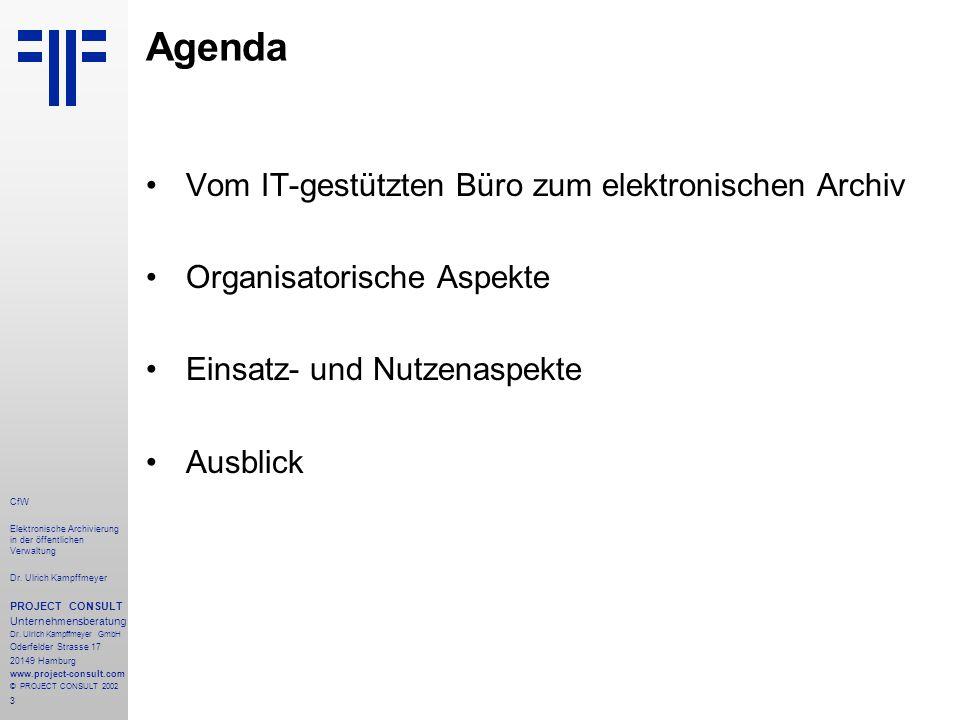 14 CfW Elektronische Archivierung in der öffentlichen Verwaltung Dr.