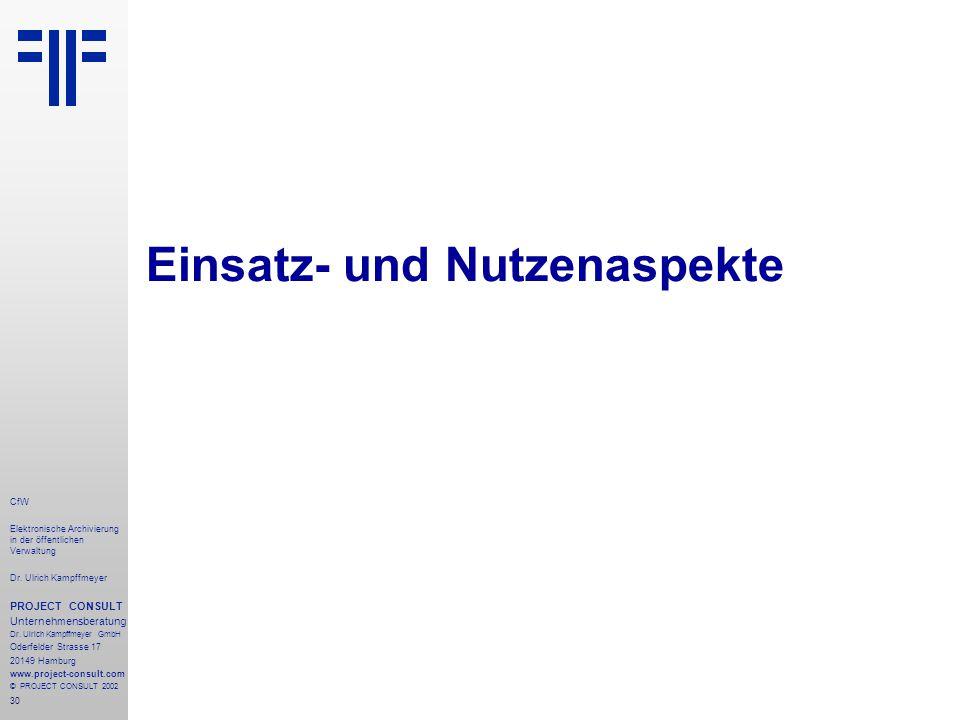 30 CfW Elektronische Archivierung in der öffentlichen Verwaltung Dr.