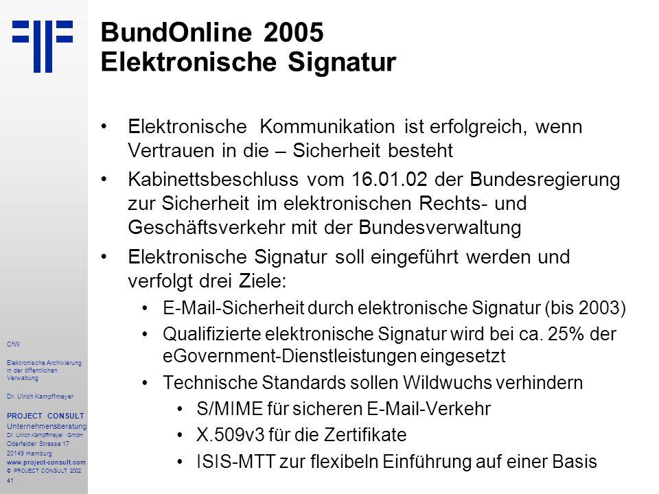 41 CfW Elektronische Archivierung in der öffentlichen Verwaltung Dr.