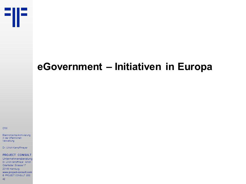 42 CfW Elektronische Archivierung in der öffentlichen Verwaltung Dr.