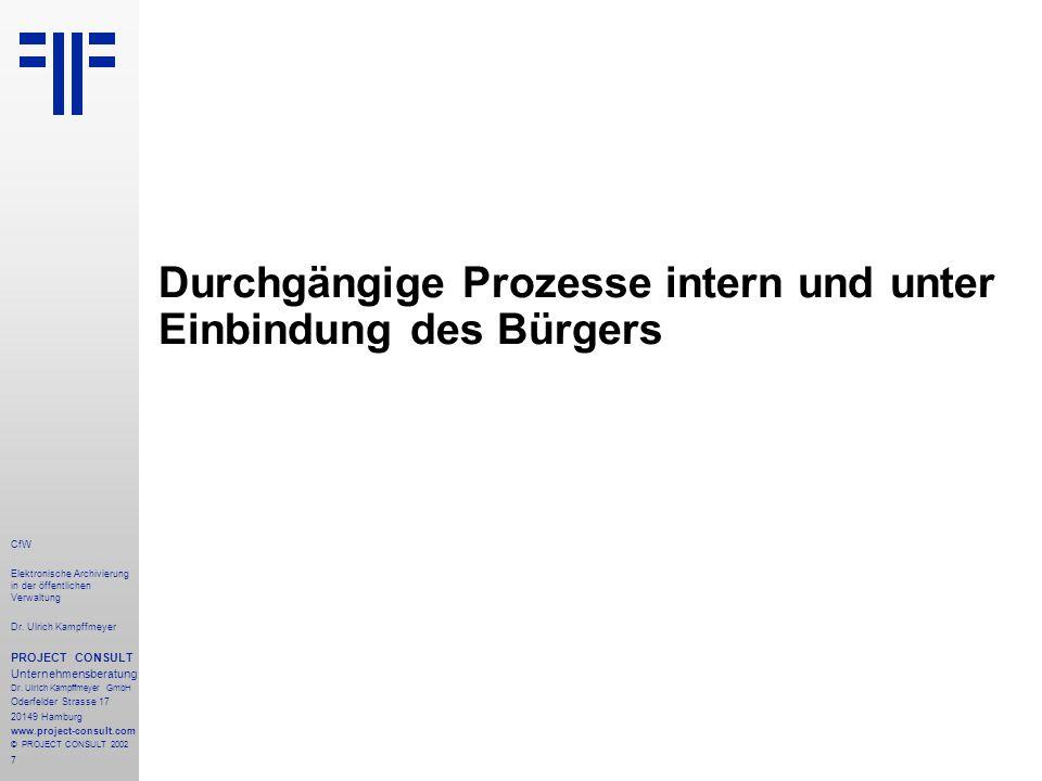 38 CfW Elektronische Archivierung in der öffentlichen Verwaltung Dr.