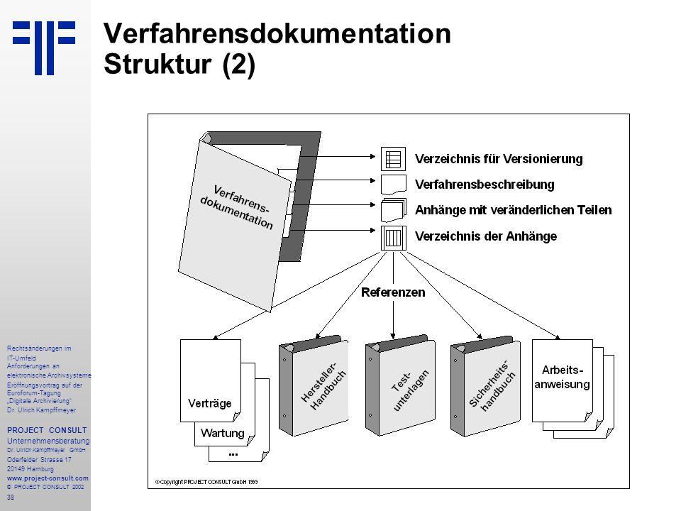 """38 Rechtsänderungen im IT-Umfeld Anforderungen an elektronische Archivsysteme Eröffnungsvortrag auf der Euroforum-Tagung """"Digitale Archivierung"""" Dr. U"""