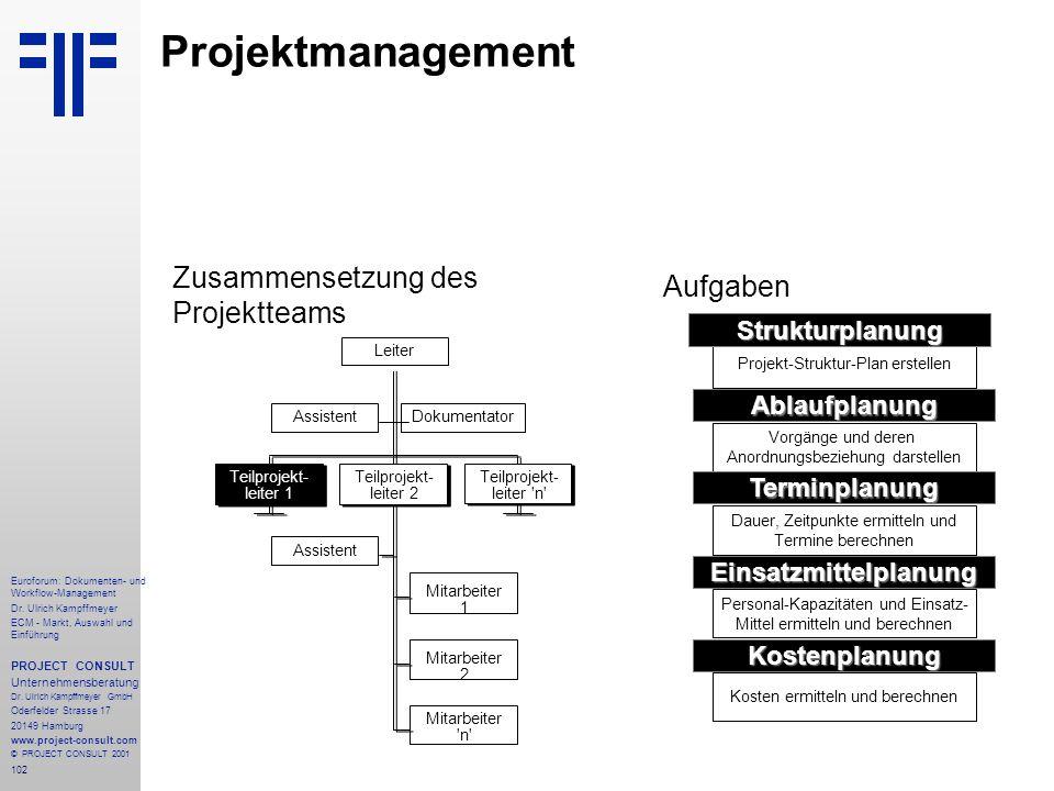 102 Euroforum: Dokumenten- und Workflow-Management Dr.
