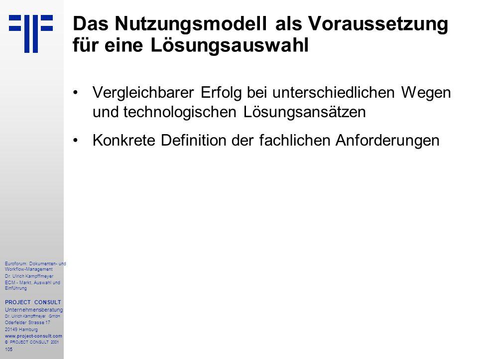 105 Euroforum: Dokumenten- und Workflow-Management Dr.