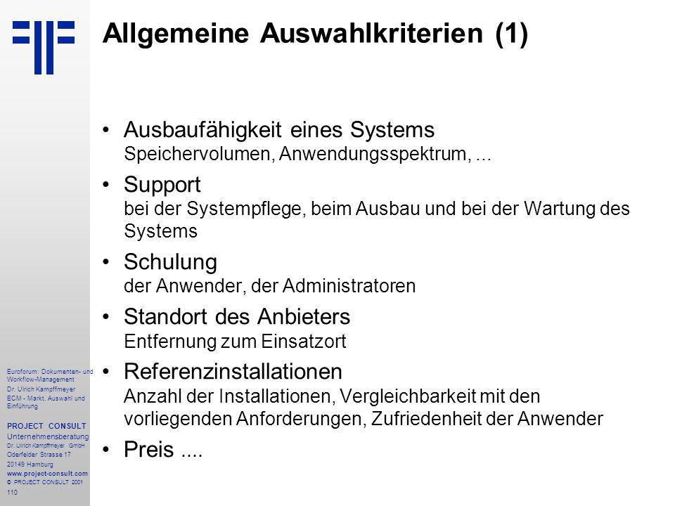 110 Euroforum: Dokumenten- und Workflow-Management Dr.