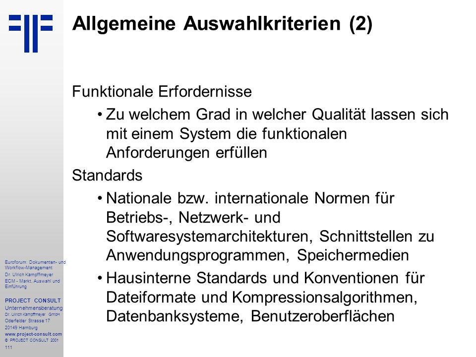 111 Euroforum: Dokumenten- und Workflow-Management Dr.