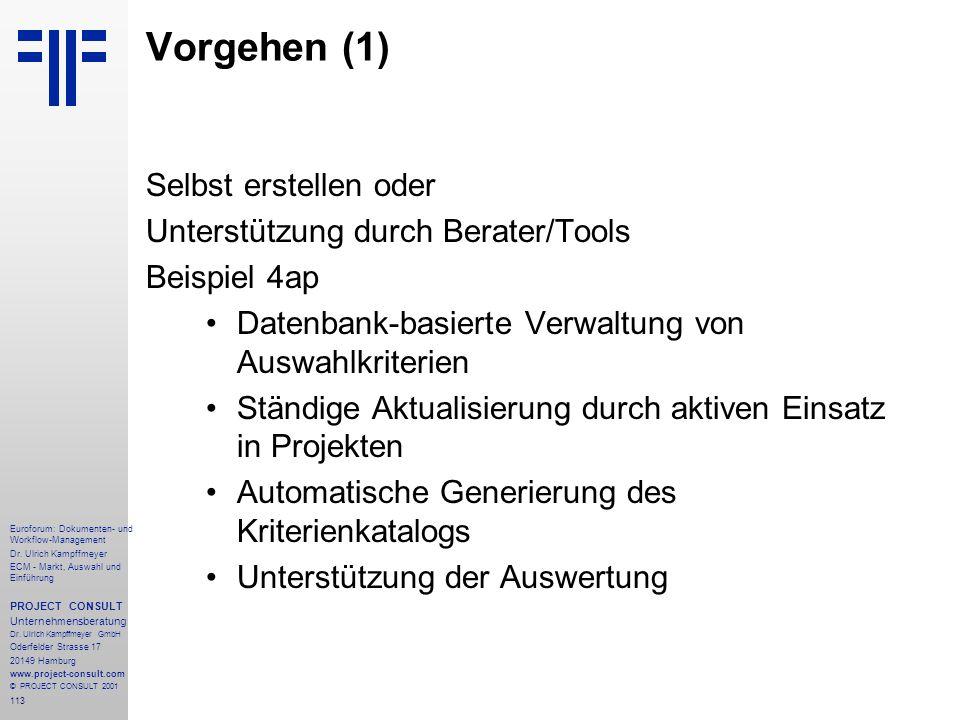 113 Euroforum: Dokumenten- und Workflow-Management Dr.
