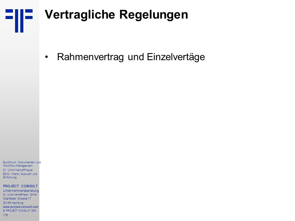115 Euroforum: Dokumenten- und Workflow-Management Dr.