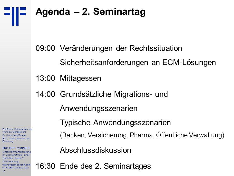 12 Euroforum: Dokumenten- und Workflow-Management Dr.