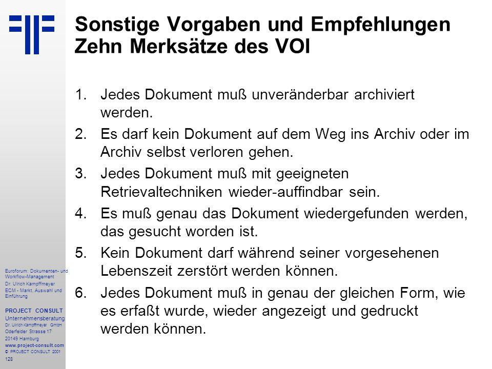 128 Euroforum: Dokumenten- und Workflow-Management Dr.