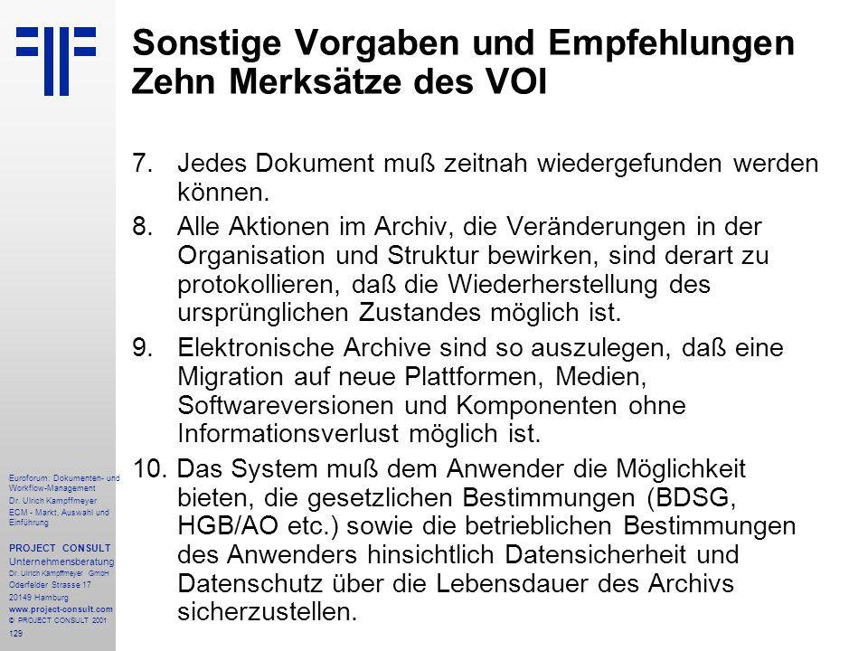 129 Euroforum: Dokumenten- und Workflow-Management Dr.