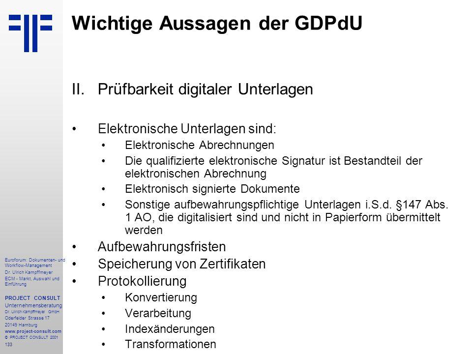 133 Euroforum: Dokumenten- und Workflow-Management Dr.