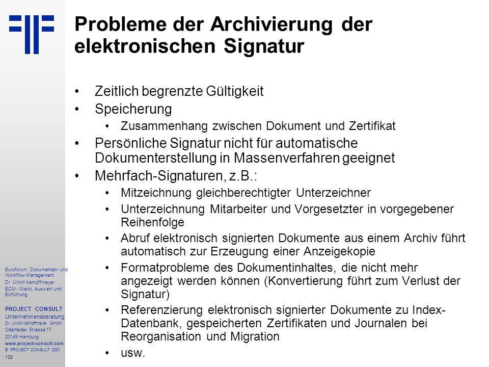 138 Euroforum: Dokumenten- und Workflow-Management Dr.