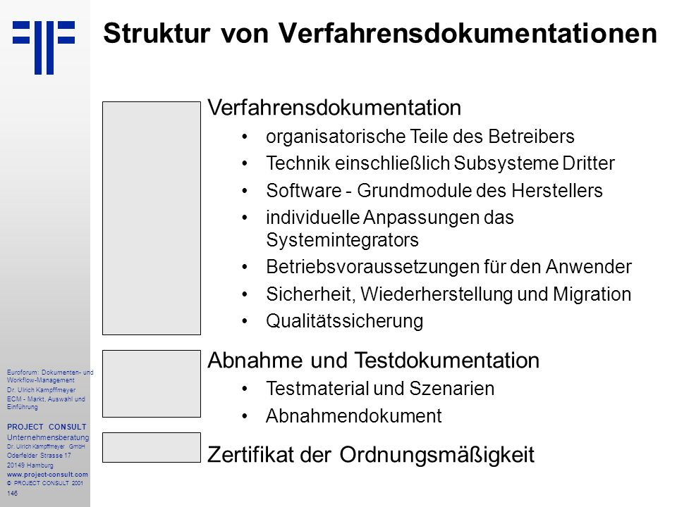 146 Euroforum: Dokumenten- und Workflow-Management Dr.