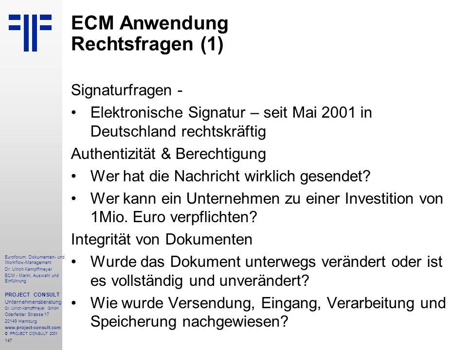 147 Euroforum: Dokumenten- und Workflow-Management Dr.