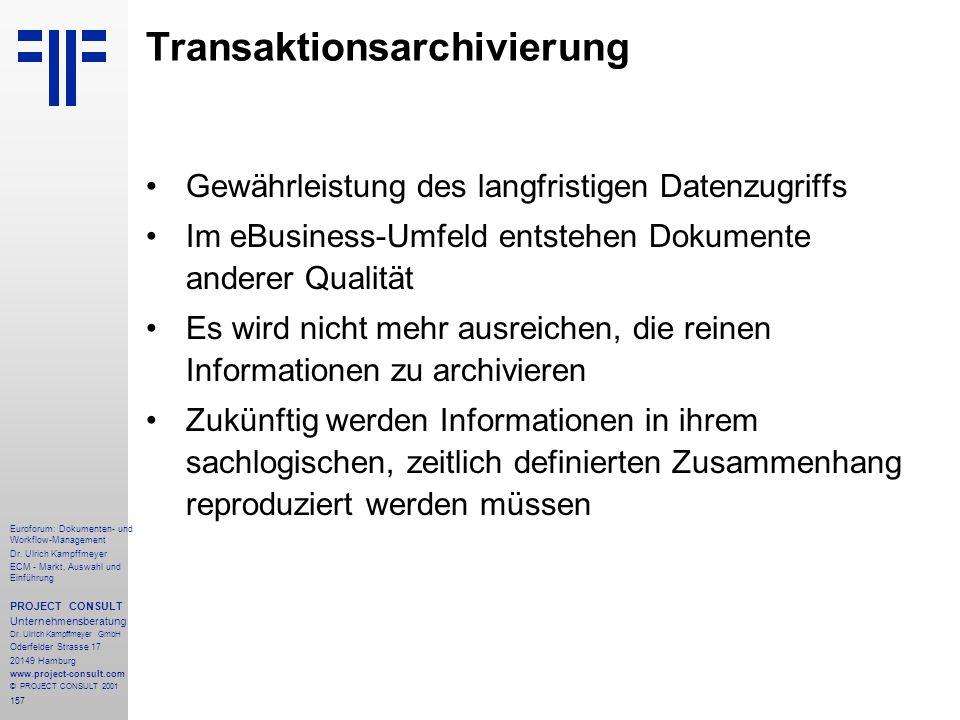 157 Euroforum: Dokumenten- und Workflow-Management Dr.