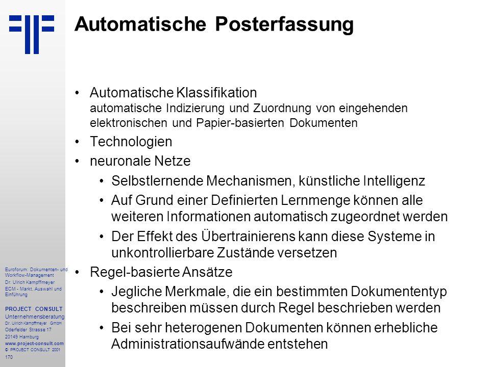 170 Euroforum: Dokumenten- und Workflow-Management Dr.