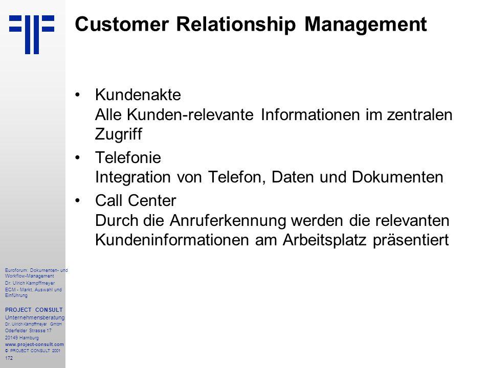 172 Euroforum: Dokumenten- und Workflow-Management Dr.