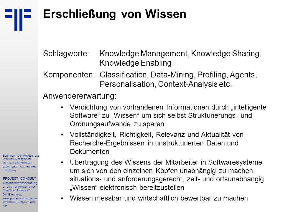 180 Euroforum: Dokumenten- und Workflow-Management Dr.