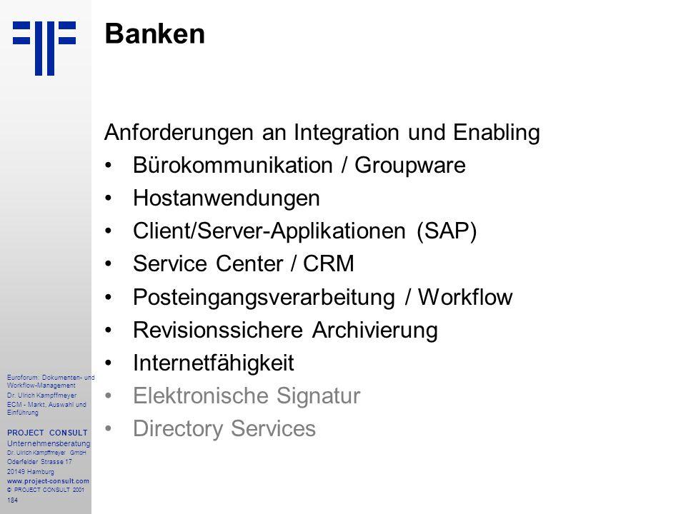 184 Euroforum: Dokumenten- und Workflow-Management Dr.
