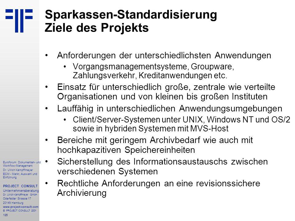 185 Euroforum: Dokumenten- und Workflow-Management Dr.